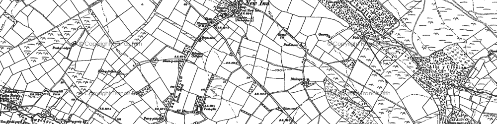 Old map of Afon Gilwydeth in 1887
