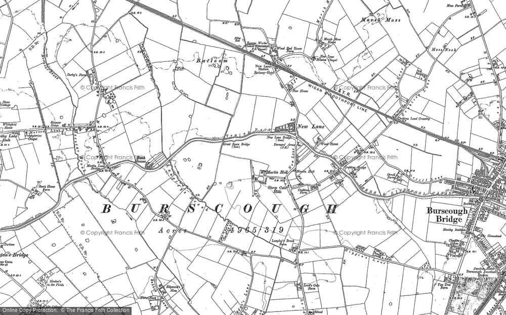 Old Map of Historic Map covering Leeds & Liverpool Canal in 1891
