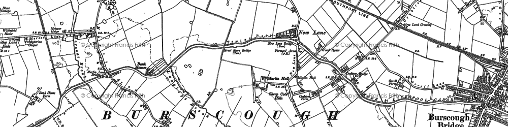 Old map of Leeds & Liverpool Canal in 1891