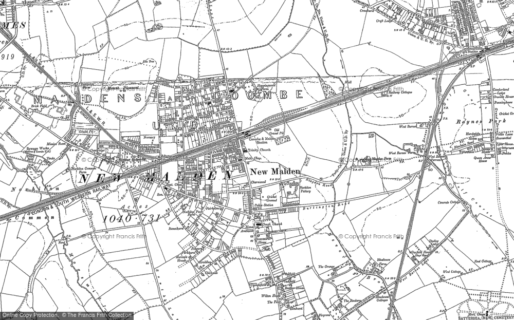 Old Maps of New Malden Francis Frith