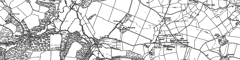 Old map of Windleway in 1886