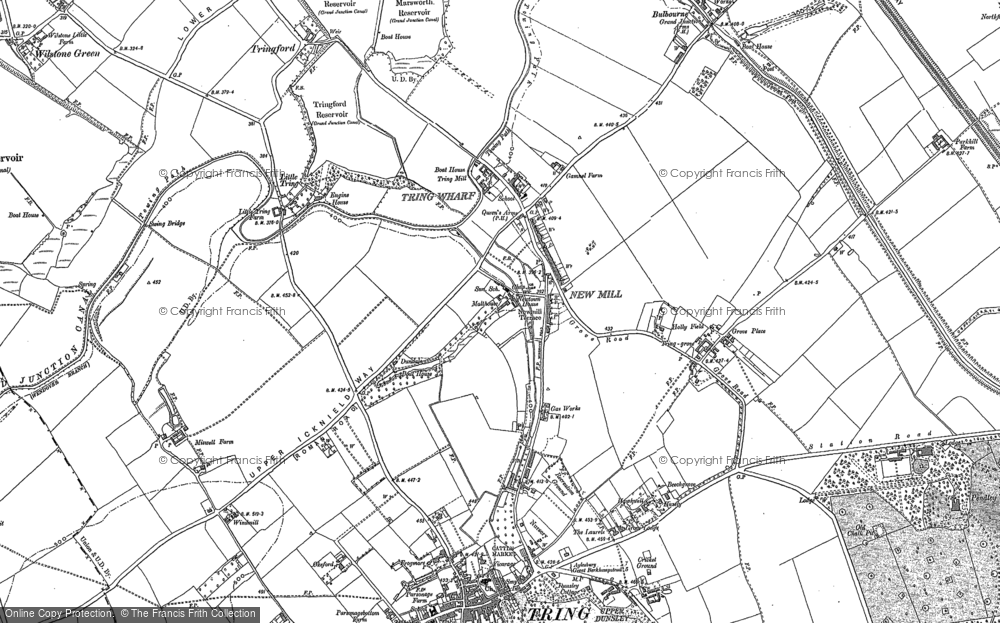 Old Map of New Mill, 1896 - 1923 in 1896