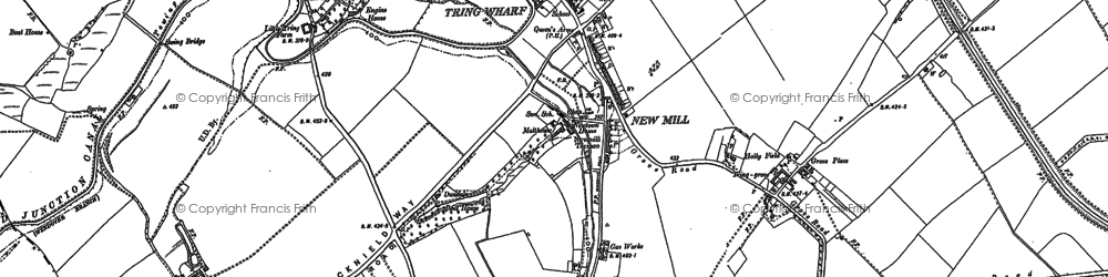 Old map of New Mill in 1896