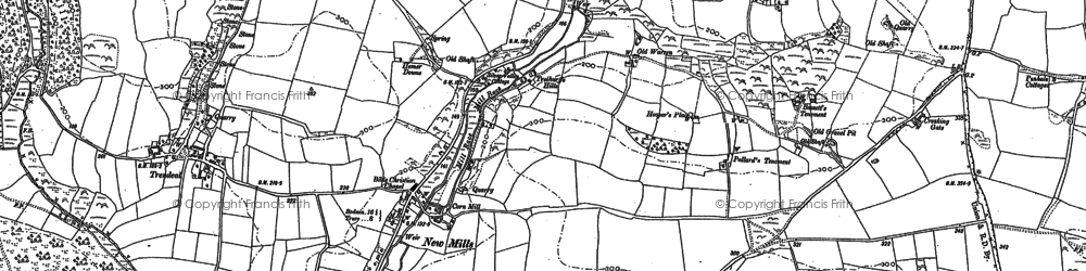 Old map of New Mills in 1879