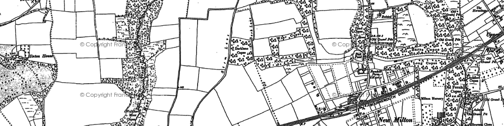 Old map of New Milton in 1896