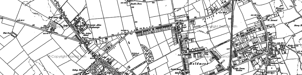 Old map of Westwood Coppice in 1887