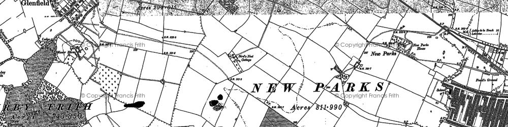 Old map of New Parks in 1885
