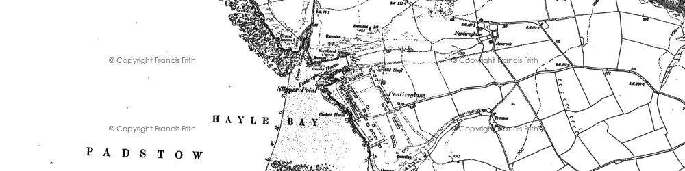 Old map of New Polzeath in 1880