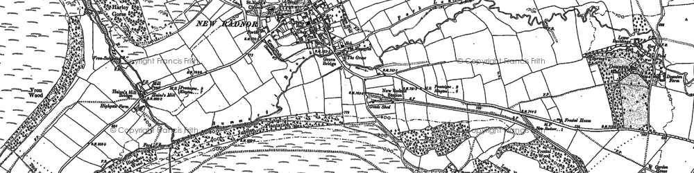 Old map of Whimble in 1887