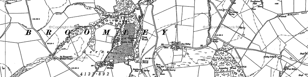 Old map of Wheelbirks in 1895