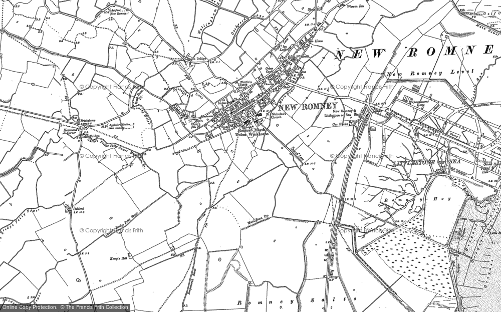 Old Map of New Romney, 1906 in 1906