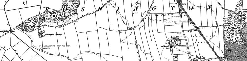 Old map of New Rossington in 1891