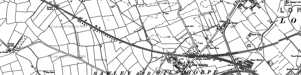 Old map of Wilsthorpe in 1899