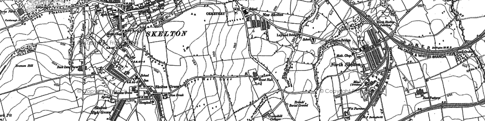 Old map of Skelton in 1893