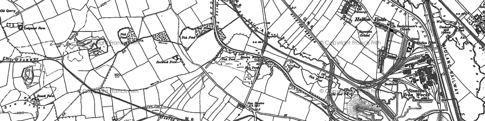 Old map of New Stanton in 1881