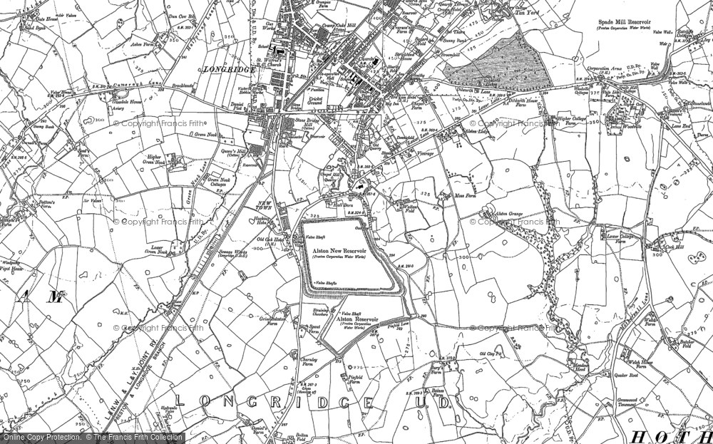 Old Map of Historic Map covering Alston Lodge in 1892