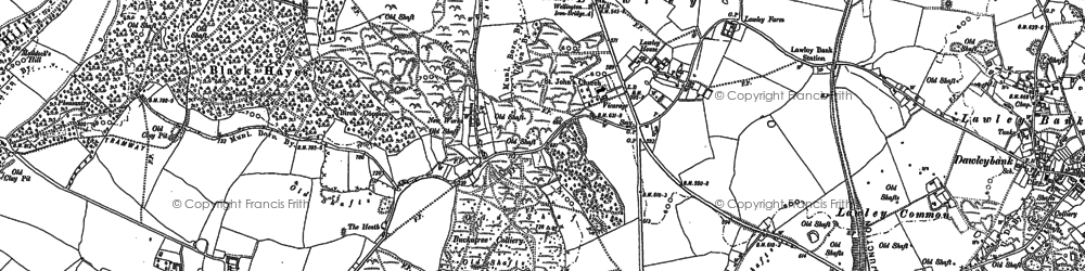 Old map of Arleston Hill in 1882