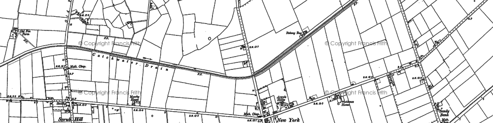 Old map of Wildmore Park in 1887