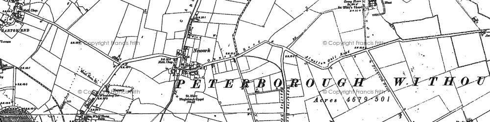 Old map of Newark in 1899