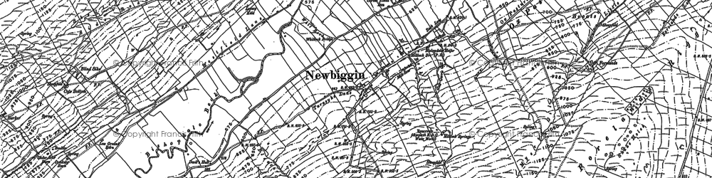 Old map of Barker in 1891