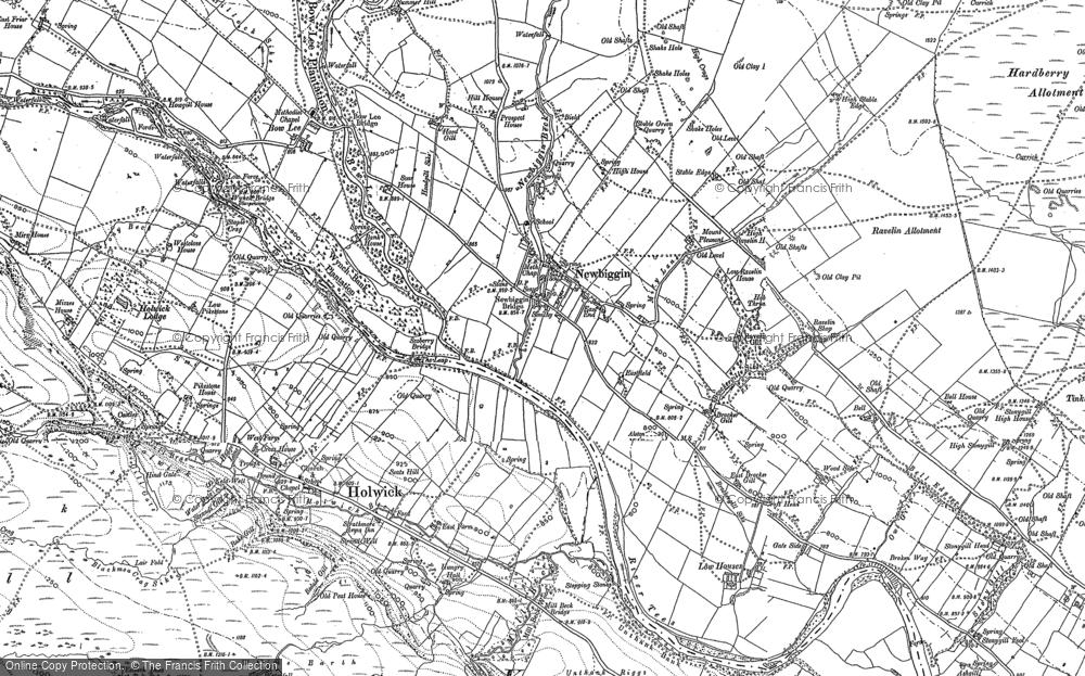 Old Map of Newbiggin, 1896 in 1896