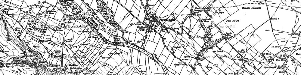 Old map of Newbiggin in 1896