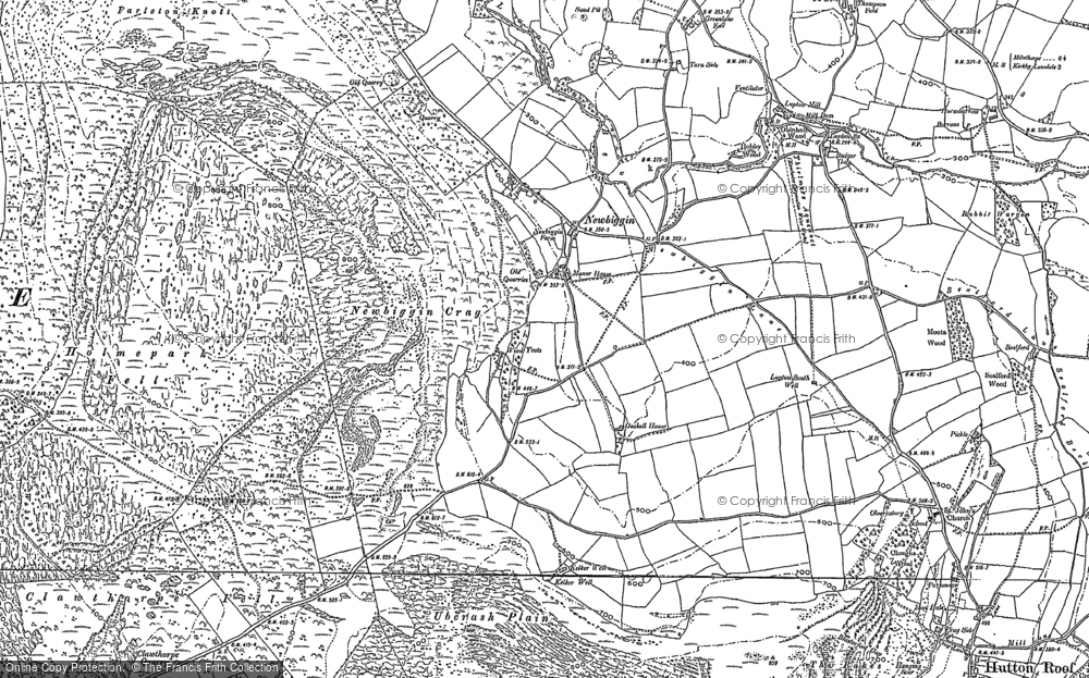 Old Map of Historic Map covering Whin Yeats in 1897