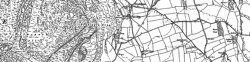 Old map of Whin Yeats in 1897
