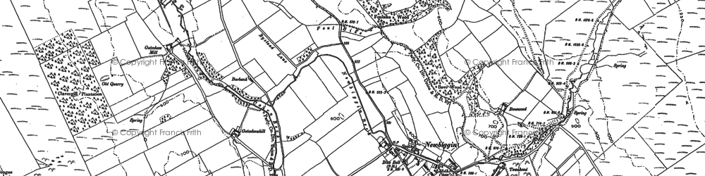 Old map of Woodgill Ho in 1898