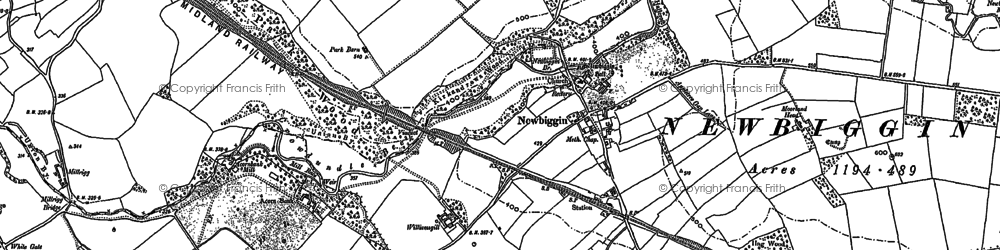 Old map of Williamsgill in 1913