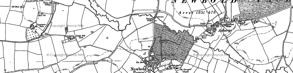 Old map of Woozeley Br in 1885
