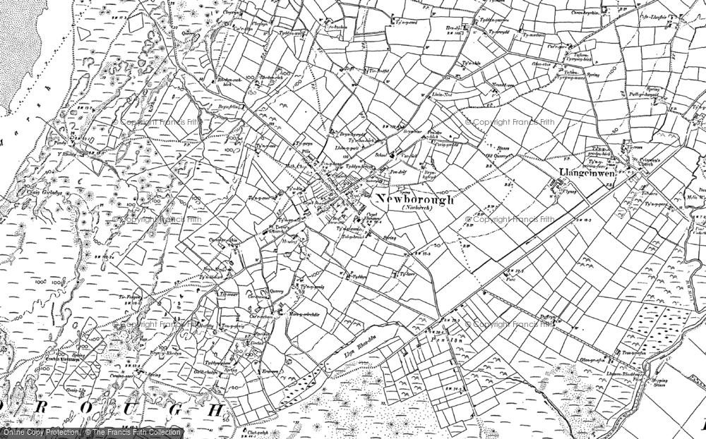 Old Map of Newborough, 1899 in 1899
