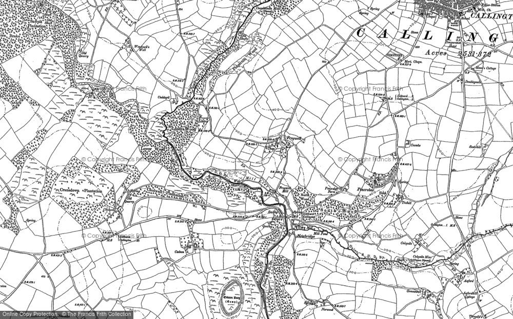 Old Map of Historic Map covering Axford in 1882