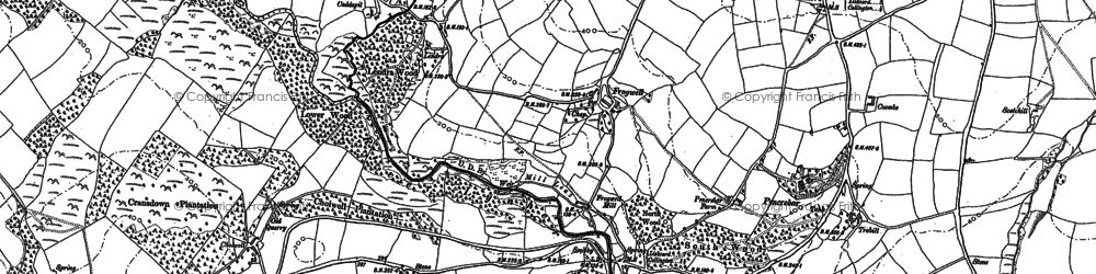 Old map of Axford in 1882