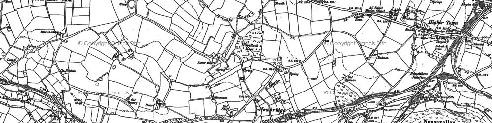 Old map of Newbridge in 1895