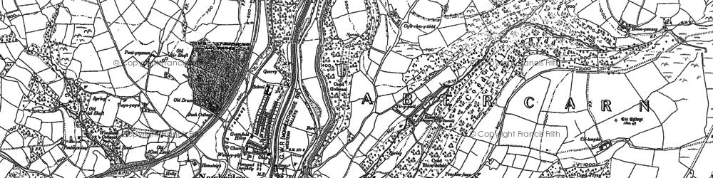 Old map of Newbridge in 1899