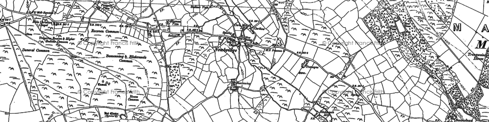 Old map of Great Bosullow in 1906