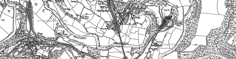 Old map of Newbridge in 1909