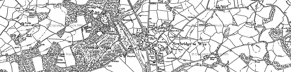 Old map of Aberithon in 1902