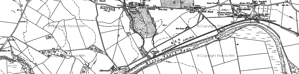 Old map of Newbrough in 1895