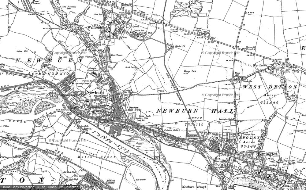 Map of Newburn, 1894 - 1895