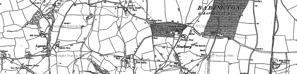 Old map of Babington Ho in 1884