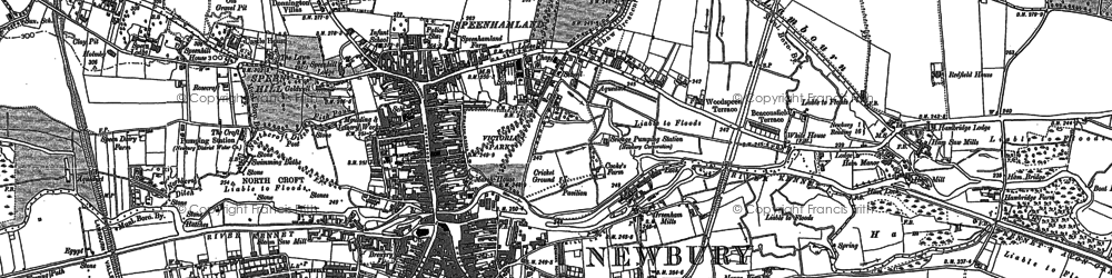 Old map of Newbury in 1898
