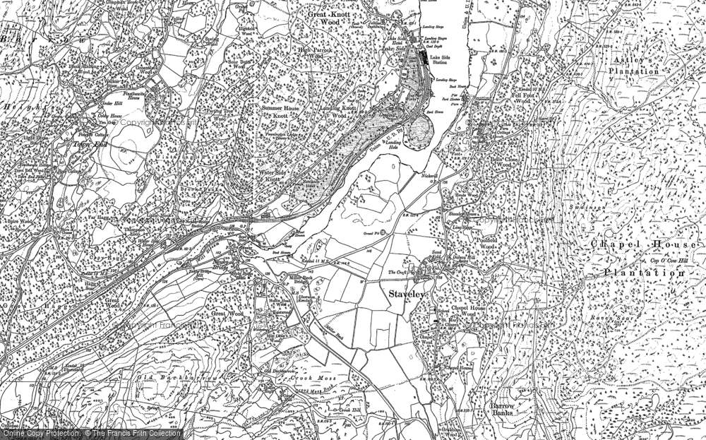Old Map of Historic Map covering Line Riggs in 1911