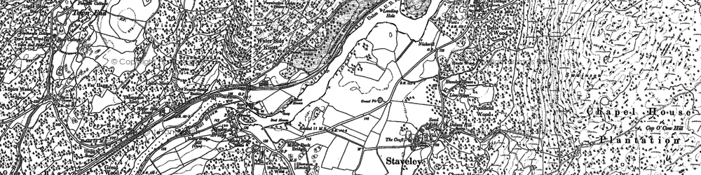 Old map of Newby Bridge in 1911