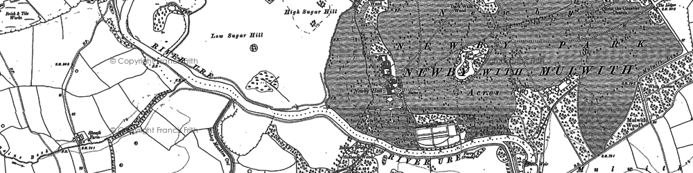 Old map of Newby in 1890