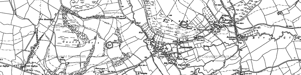 Old map of Ale Oak in 1883