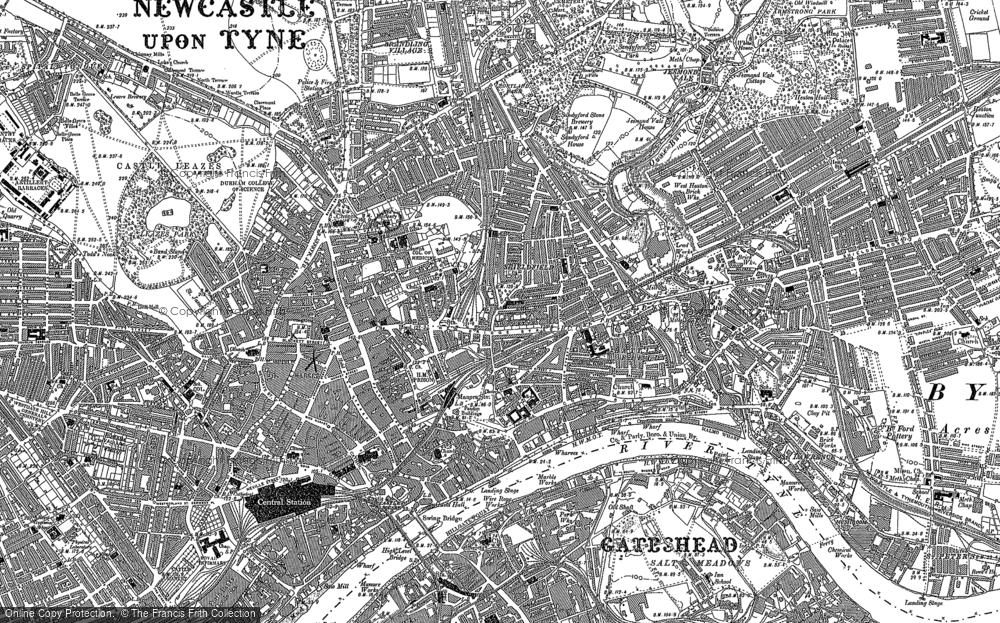 Map of Newcastle upon Tyne, 1894 - 1895