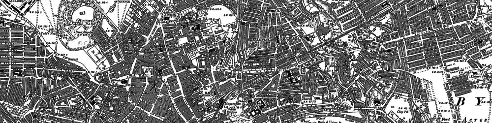 Old map of Shieldfield in 1895