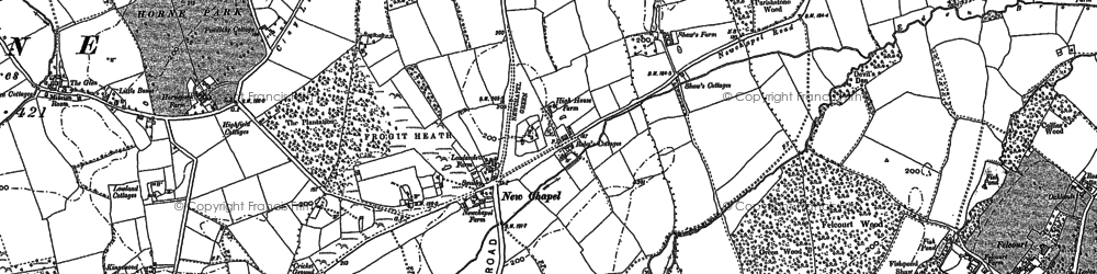 Old map of Baker's Wood in 1910